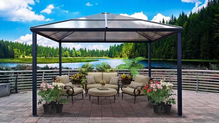 SUN GAZEBO - Polycarbonate Roof