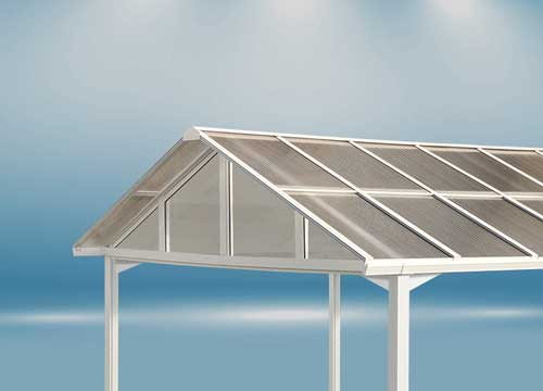 The POLYCARPORT design is favored by many who want an A-frame roof style applied roof panels that allow greater rain, snow and debris run-off - ideal for higher snow load areas.